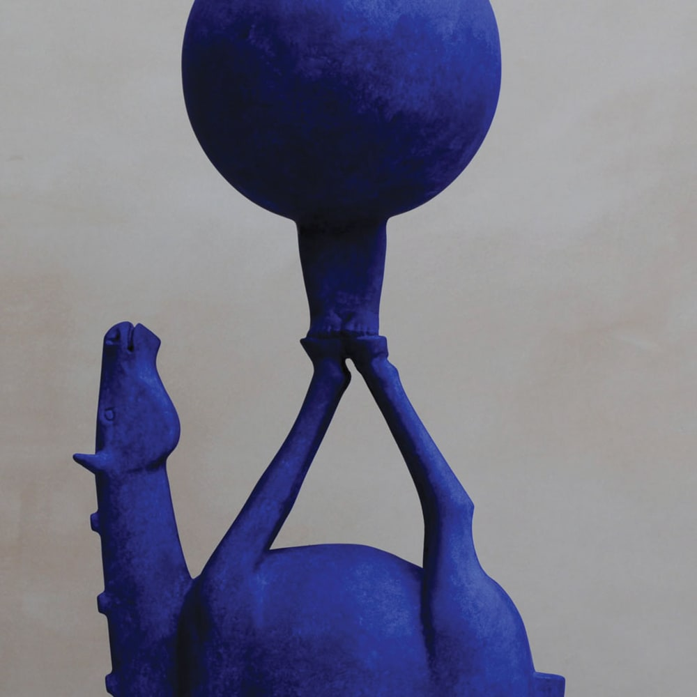 Eoghan Bridge  The Art of Being Blue  ceramic  65cm high