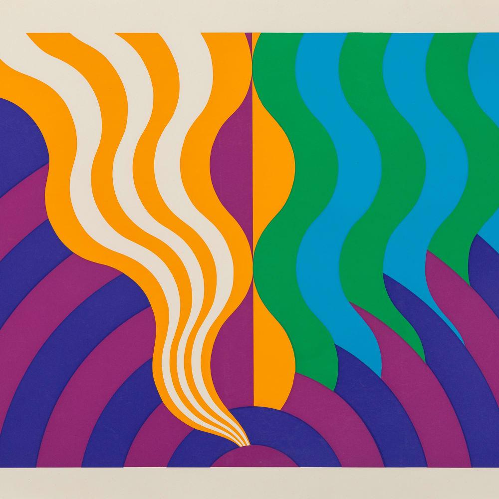 Mohamed Melehi, Untitled, 1972