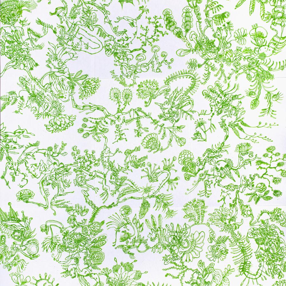 Ed Pien, Invasive Species: Hanging Garden, 2020