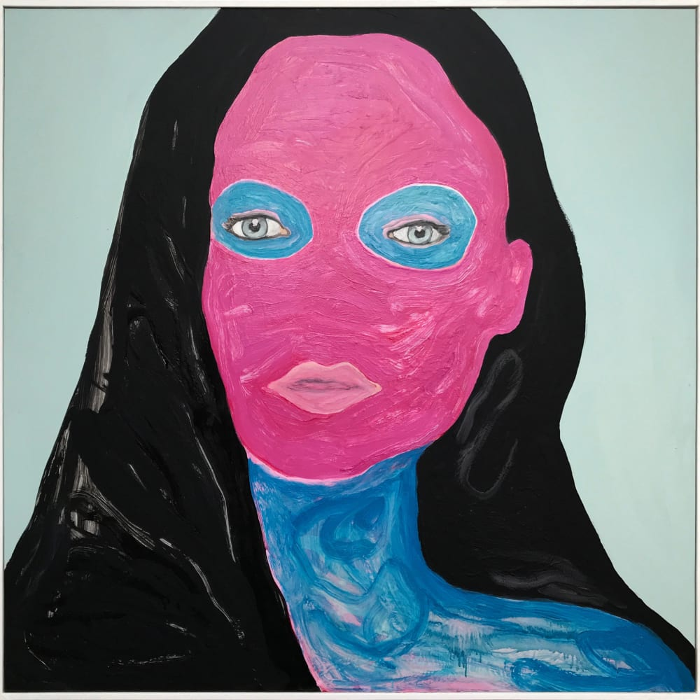 Hedley Roberts  Blue Tattoo, 2019  oil on panel  125.5 x 125.5cm