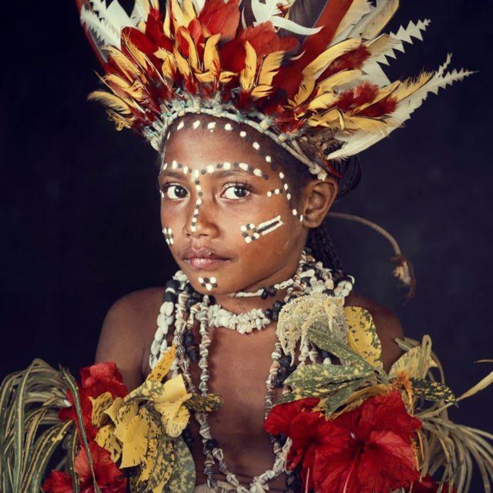 Jimmy Nelson  XXXIII 31, 2018  Korafe | Amuioan, Tufi, Oro province | Papua New Guinea 2017  Archival print, Wooden frame with museum glass  74 x 62 cm  Edition 2 of 9