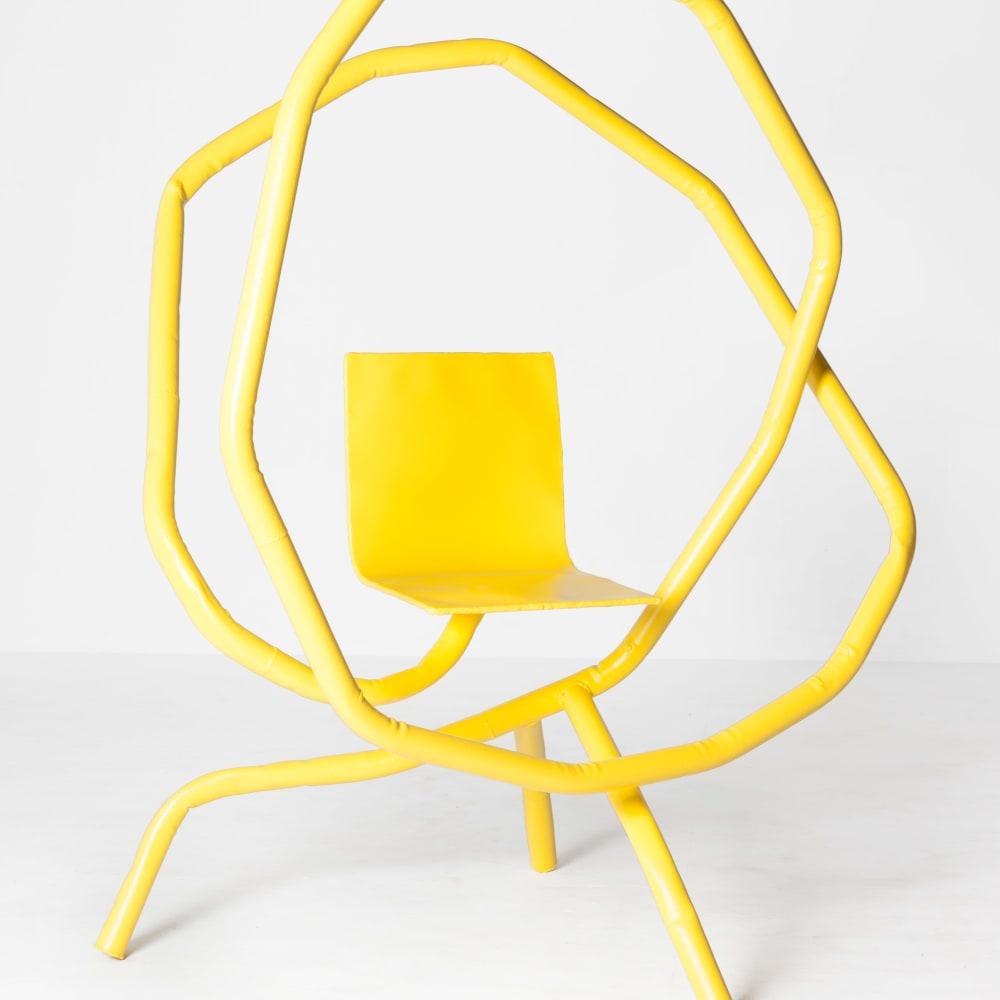 Bart Eysink Smeets  Yellow rocking chair  Steel and powder coating  175 x 135 x 100 cm