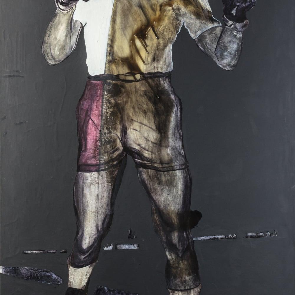 Rob Visje  Mandela  Oil on canvas  200 x 110 cm  Unicum