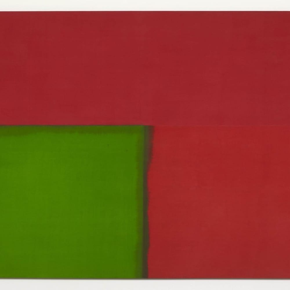 Bob LAW  Blue Red, Red Red, Green Green, 1967  oil on canvas  180.3 x 320 cm 71 x 126 in