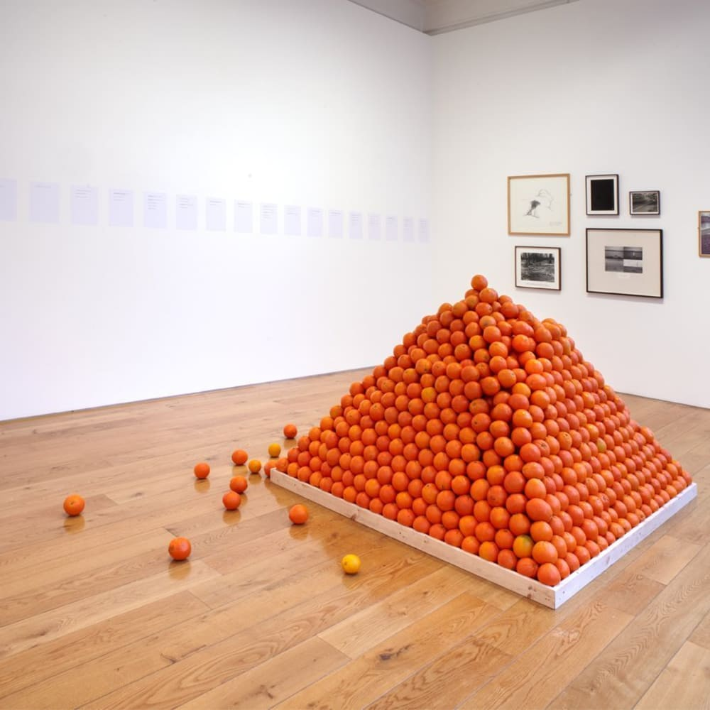 Roelof LOUW  Pyramid (Soul City), October 1967  ±6,000 oranges  152.4 x 167.6 x 167.6 cm
