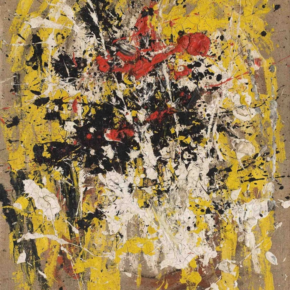 John LATHAM  Untitled, 1954  oil on unprimed canvas  77 x 63 cm 30.3 x 24.8 in