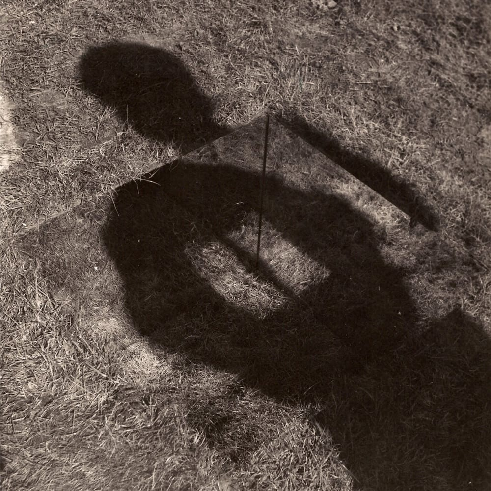 Keith ARNATT  An Invisible Hole Revealed by the Shadow of the Artist, 1968 - 69  Vintage black and white photograph (set of 3 with KAR067 and KAR070)  23.3 x 19.3 cm