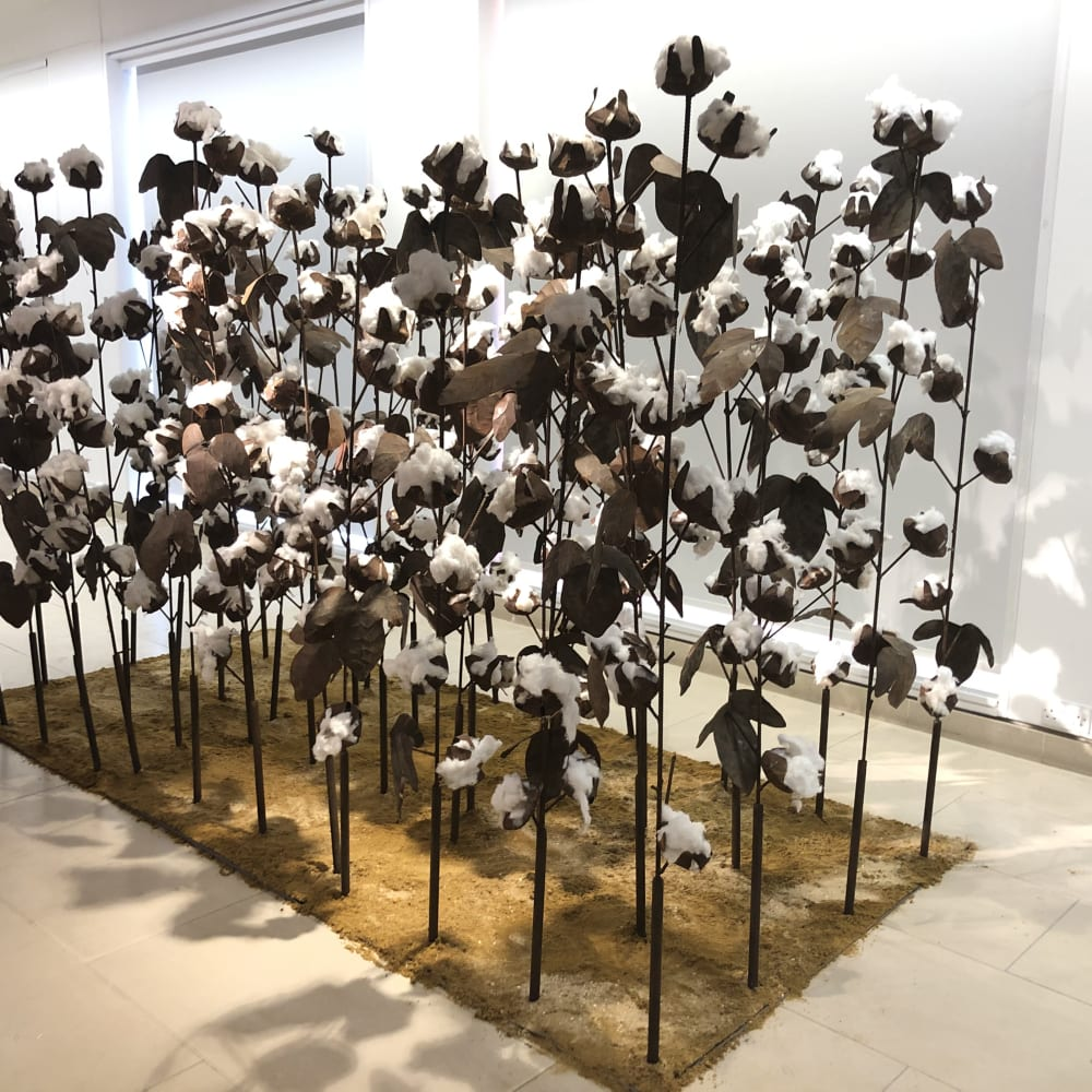 Soly Cissé, Cotton Field, 2018
