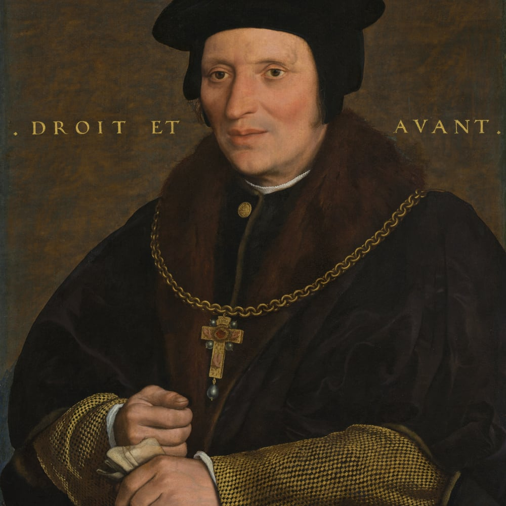 Hans Holbein the Younger  Sir Brian Tuke, 1534  Oil on panel  62 x 74 cm 24 3/8 x 29 1/8 in