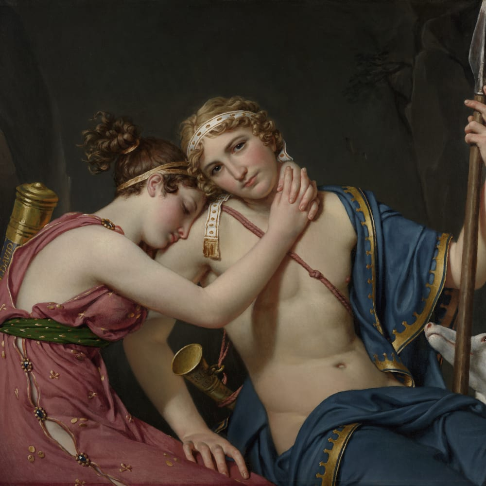Jacques-Louis David  The Farewell of Telemachus and Eucharis, 1534  Oil on canvas  88.3 x 103.2 cm 34 3/4 x 40 5/8 in