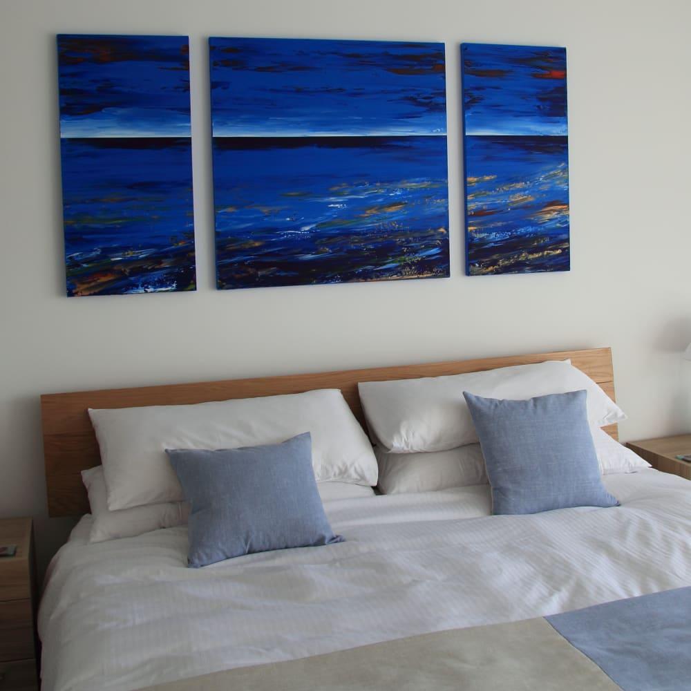 Moonlight Triptych 90x45x90x90x90x45cm