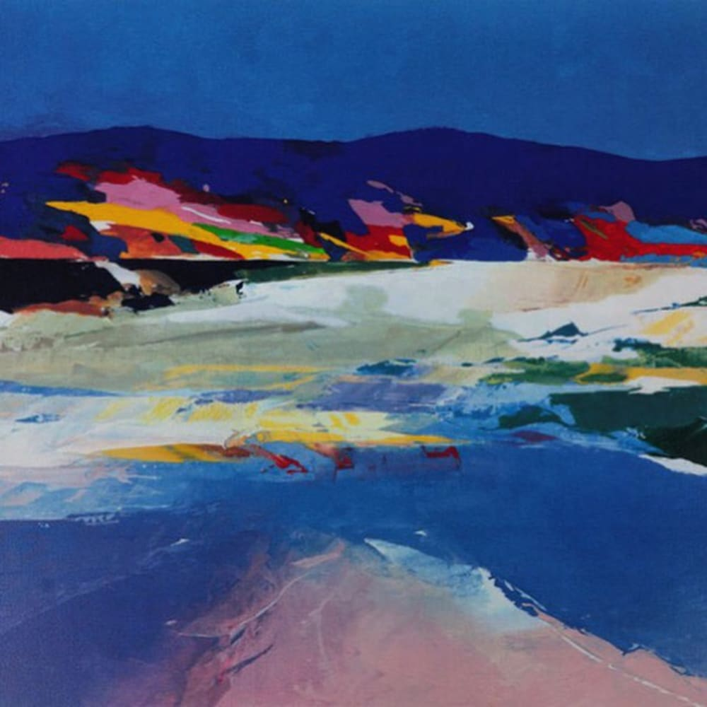 Donald Hamilton Fraser RA  Beachscape, Sutherland, 2003  Screenprint in colours  60.5cm x 77.5cm