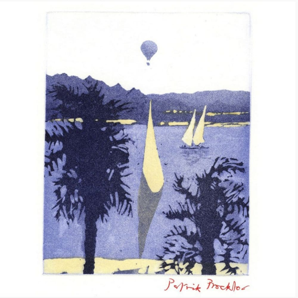 Patrick Procktor RA  The Nile  Signed in pencil, 2 plate colour etching and aquatint. A/P edition of 75, printed by Charles Newington, Published by the Redfern Gallery, A/P  19cm x 15cm