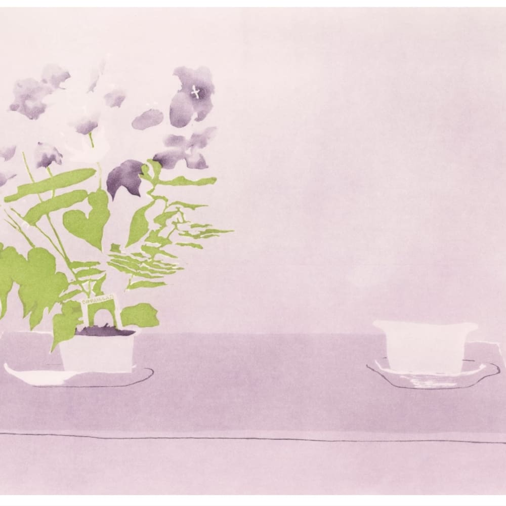Patrick Procktor RA  Campanula, 1989  etching with aquatint in colours on wove, signed and number 70/75, in pencil, bears blindstamp  52.9cm x 68.1cm