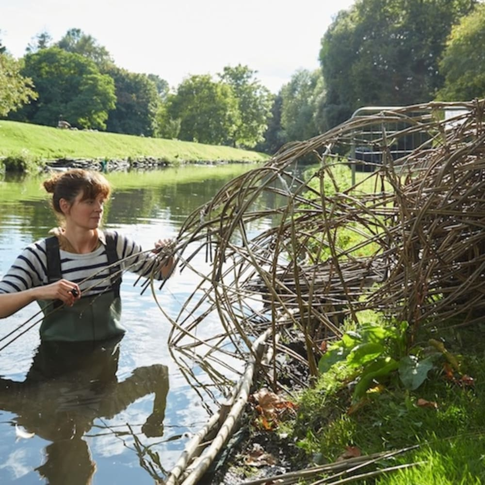 Laura Ellen Bacon on-site at Hall Place for their first Artist in Residence. Image © Steve Hickey
