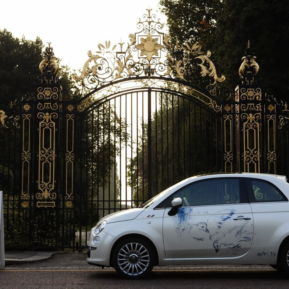 Tracey Emin's Fiat 500 Collector Car at Frieze Art Fair. Photo © Charlie Gray / Into The Blue Media 2007