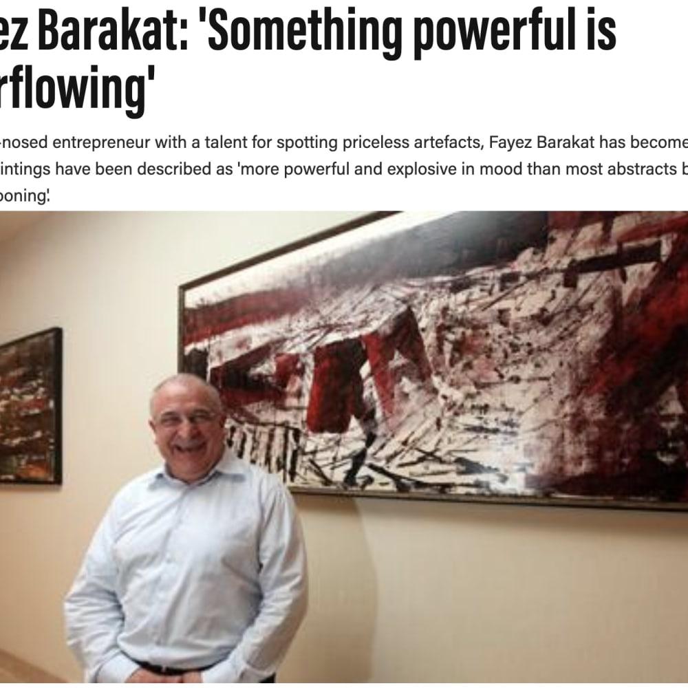 Fayez Barakat: 'Something powerful is overflowing'