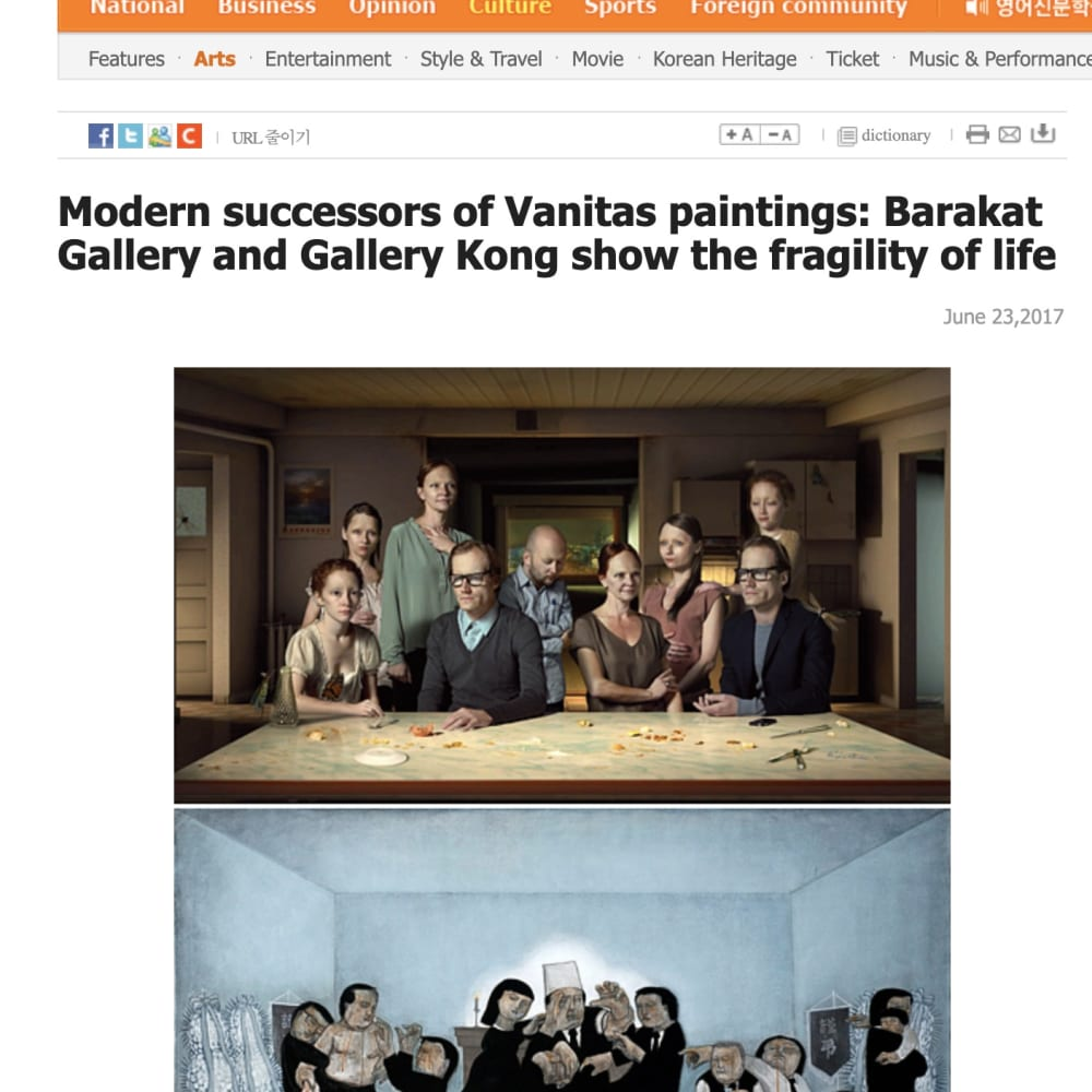 Modern successors of Vanitas paintings: Barakat Gallery and Gallery Kong show the fragility of life