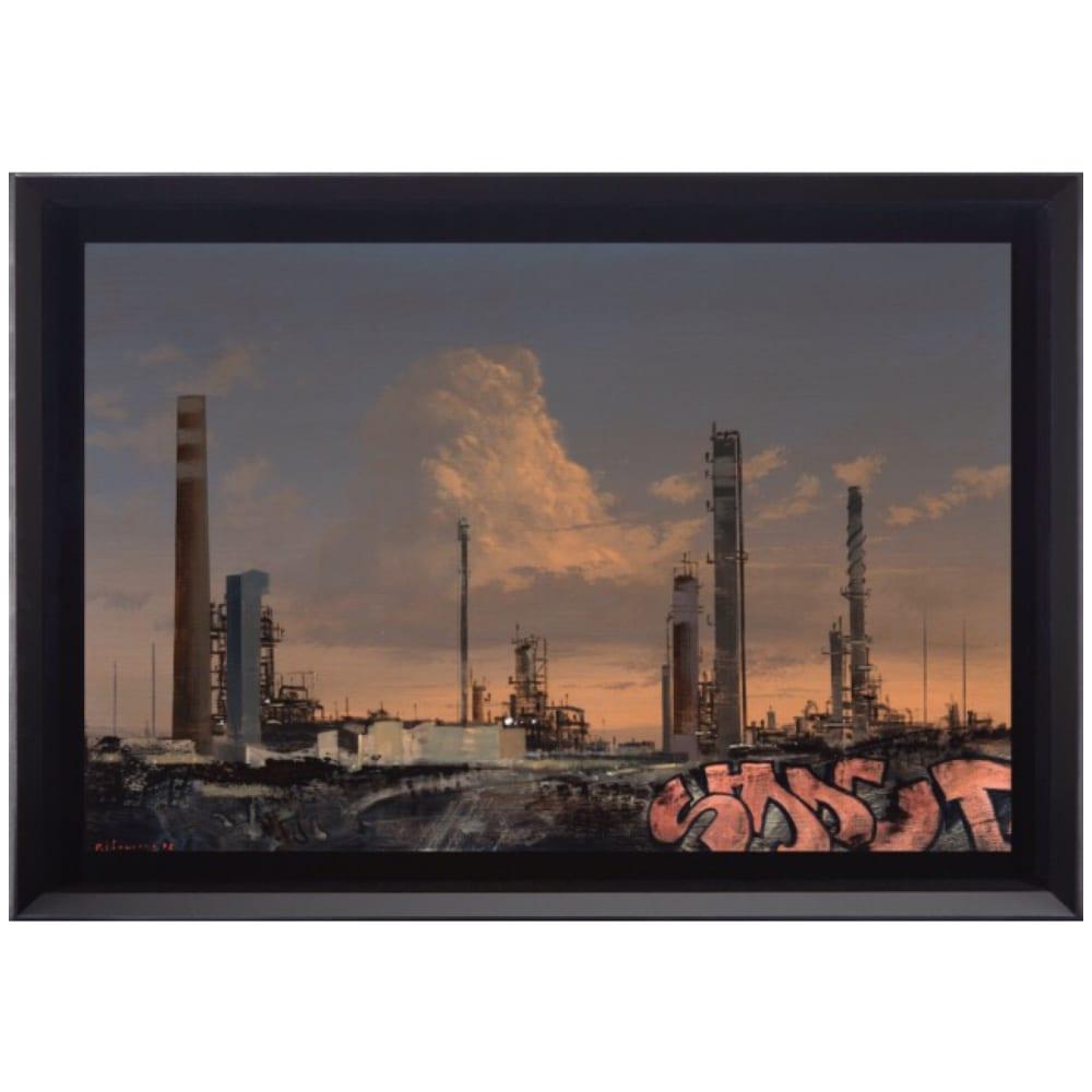 MJ Lourens, Ode to Chemistry, 2018, acrylic on board, 40 x 60cm