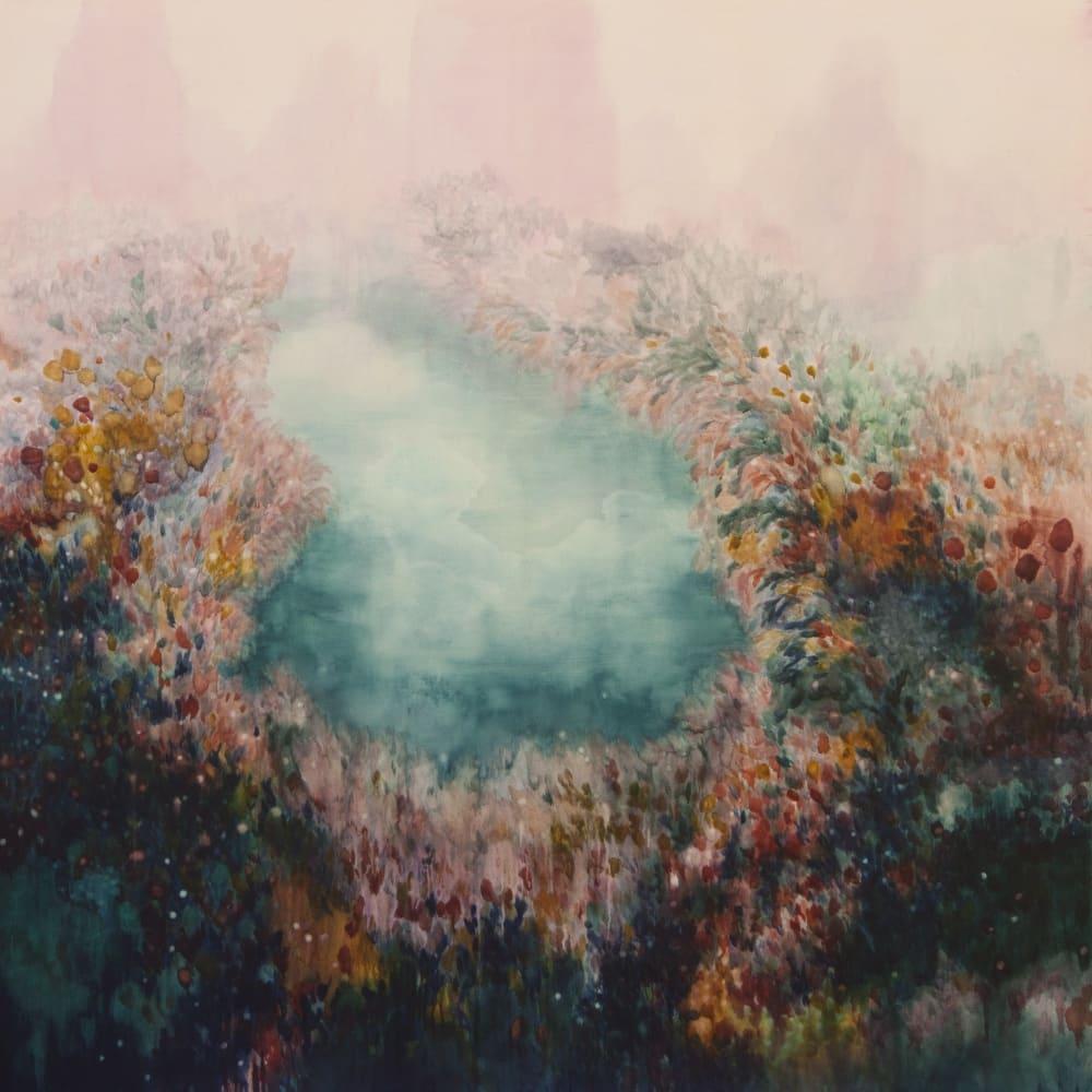 Barnard Gallery_Alexia Vogel, Pool II, 2017, oil on canvas, 200 x 200 cm