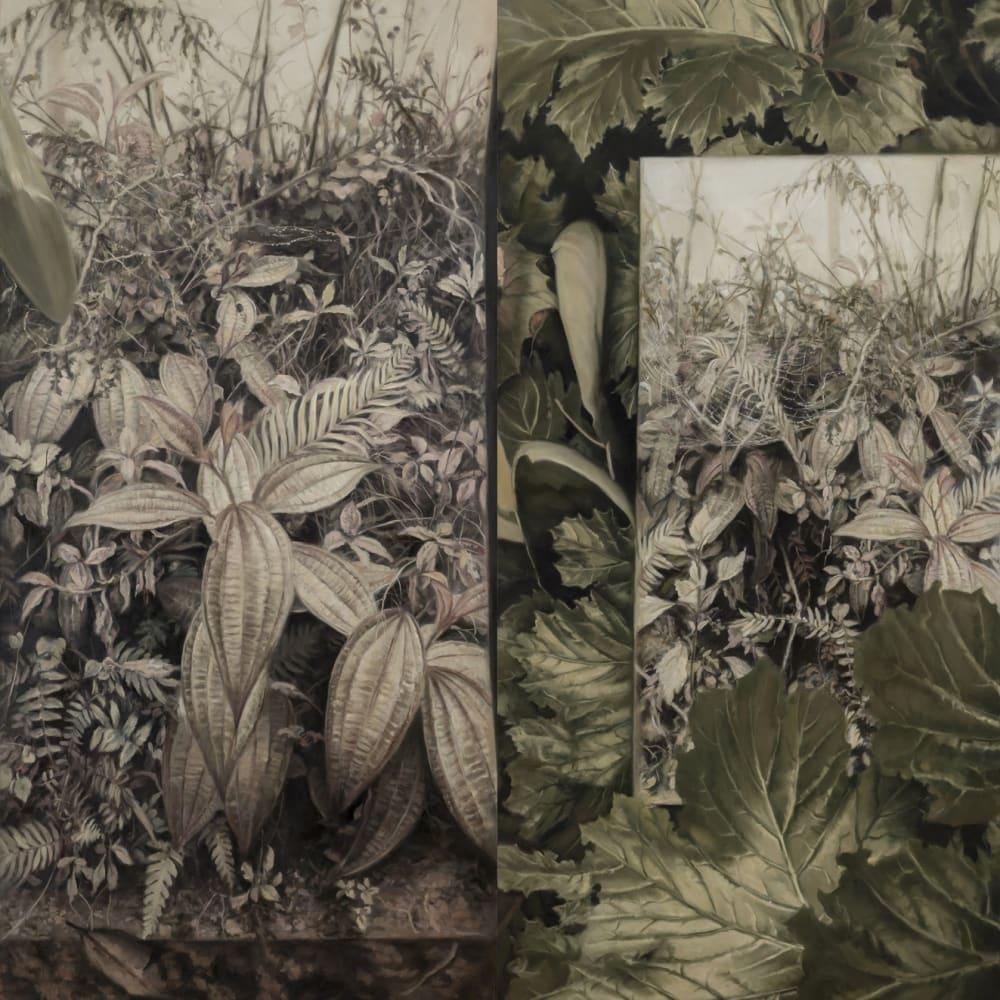 Jaco van Schalkwyk, wondering while lying down , 2017, oil on Belgian linen, 210 x 200 cm