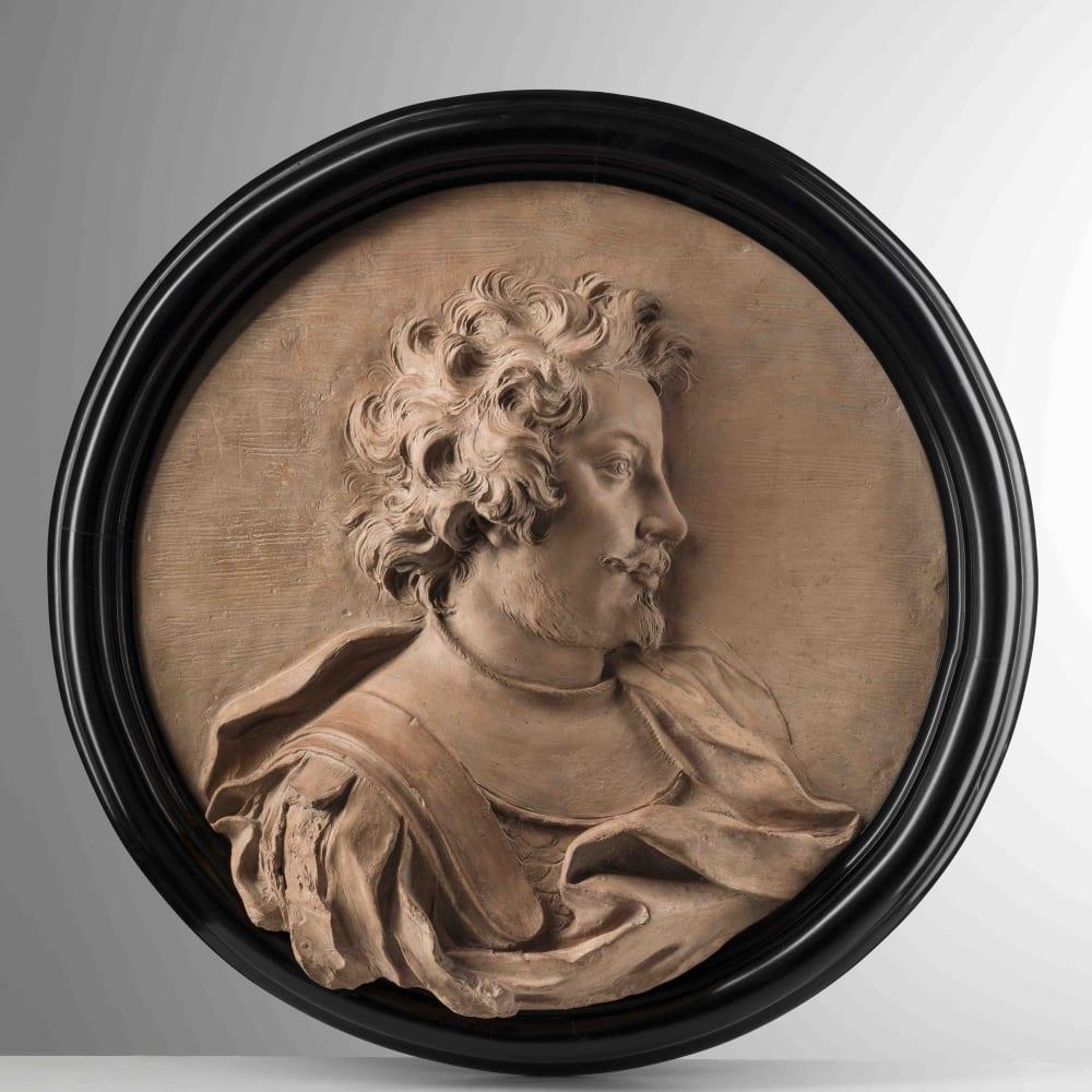 Melchiorre Cafa (1636–1667) Giovanni Giacomo III Omedei , ca. 1665 Terracotta Diam. 55 cm