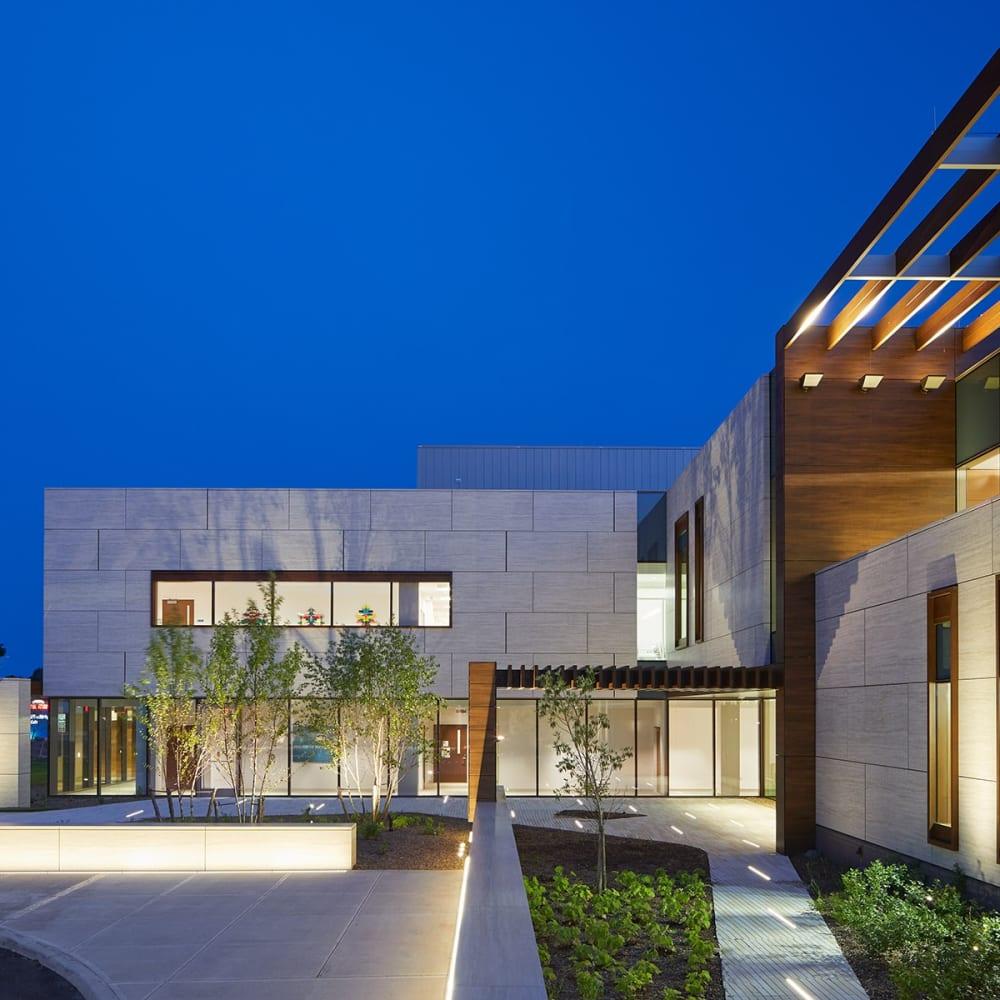 MSKCC Nassau Installation View, Exterior View