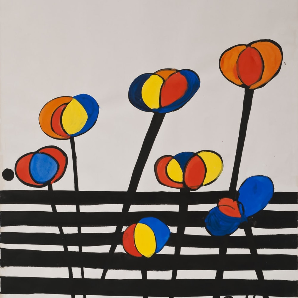 Alexander Calder  La Barriere, 1971  Gouache and ink on paper  30 1/4 x 22 1/4 inches / 76.8 x 56.5 cm  Signed and dated lower right