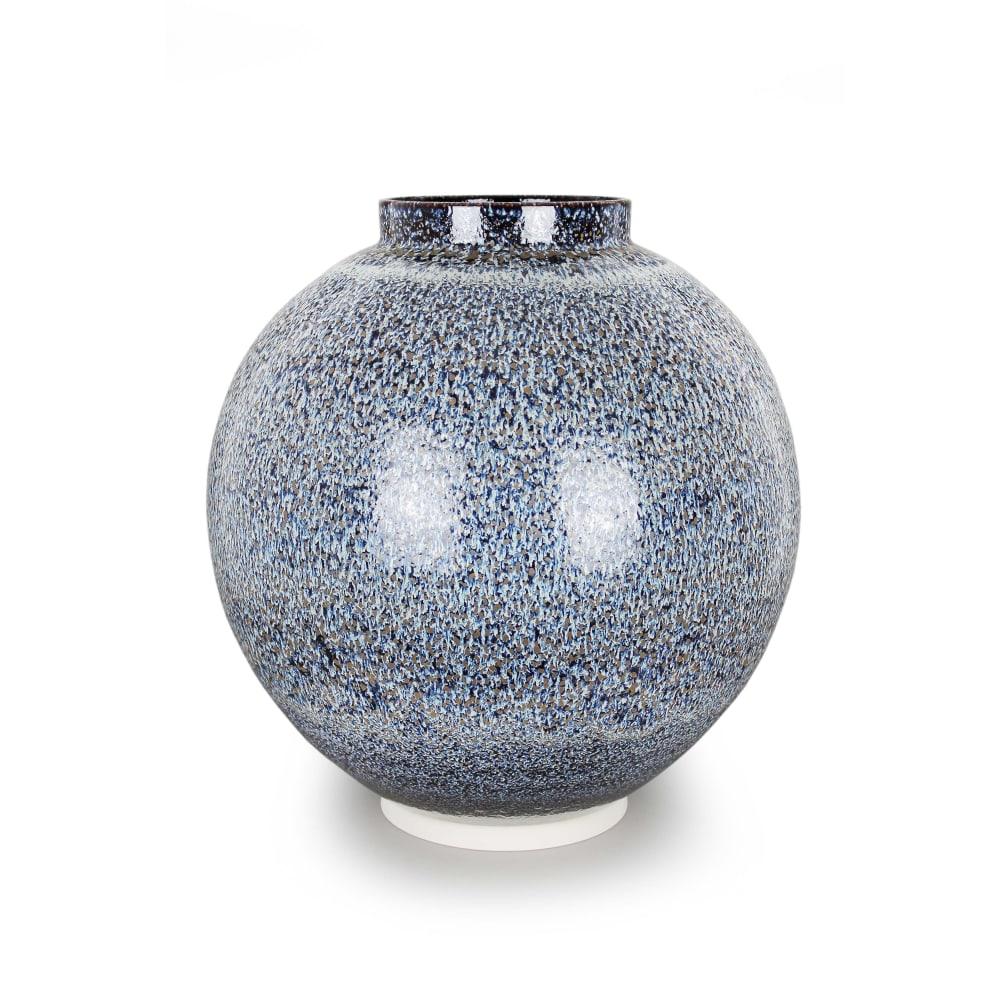 Albert Montserrat, Bronze Dotted Jar, 2019, Oil Spot and Glazed Thrown Porcelain
