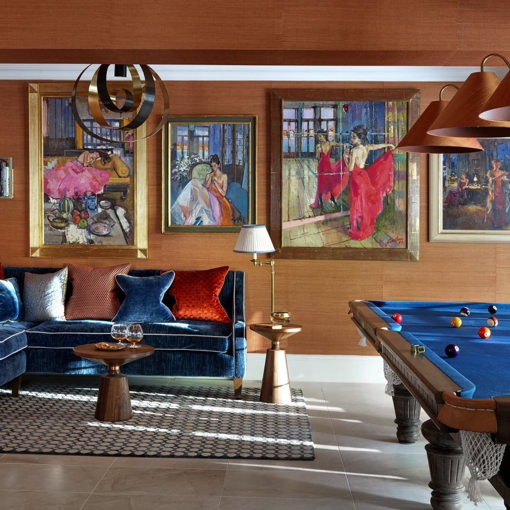 Games Room Design with Figurative Paintings by Geoffrey Humphries and Paul Hedley