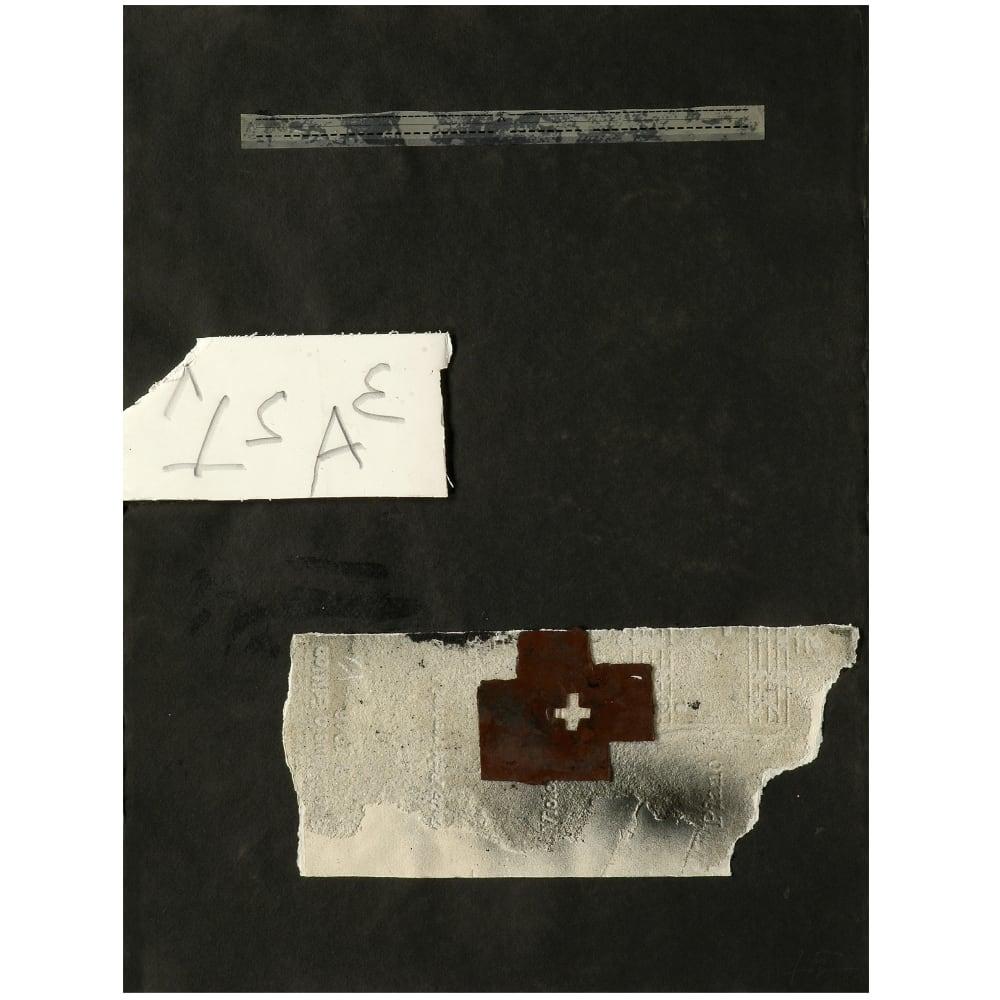 Antoni Tàpies Collage sobre paper negre, 2004 Mixed media and collage on paper Technique mixte et collage sur papier 29 1/2 x 22 1/5 in 75 x 56.5 cm