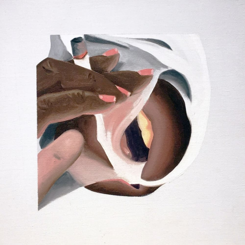Tom Wesselmann, Study for smoker, 1976, oil on canvas, 11 5/8 x 11 5/8 in / 29.5 x 29.5 cm