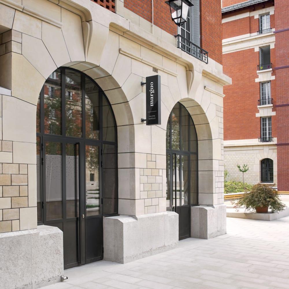 Exterior of Galerie Marguo at 4 rue de Minimes, Paris. Courtesy of Galerie Marguo