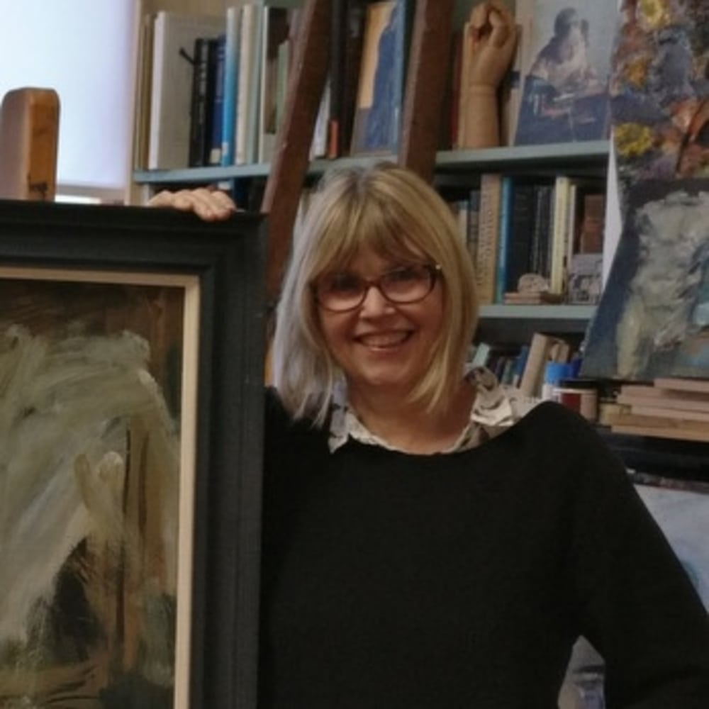 Ghislaine in her studio