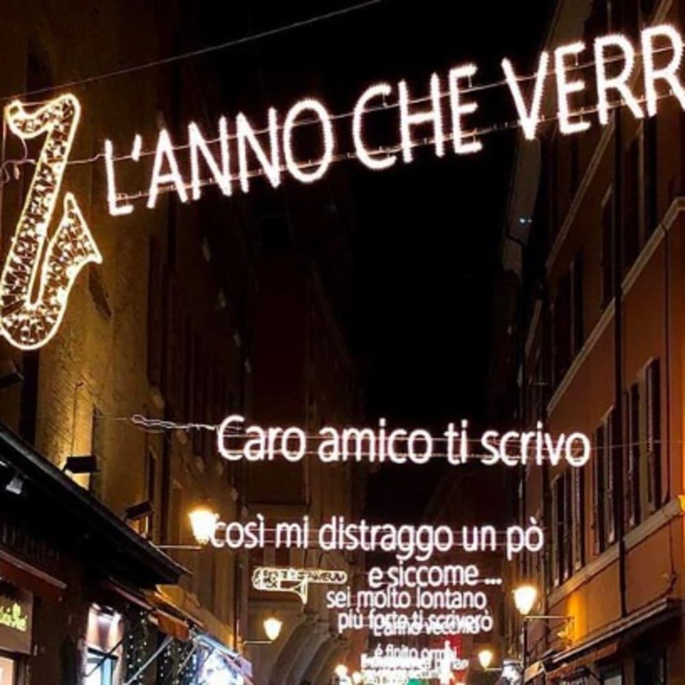 © Maggiore g.a.m. | Via D'Azeglio with the Christmas Lights dedicated to Lucio Dalla, Bologna 2018 / 2019