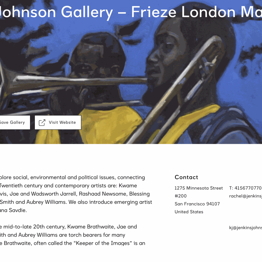 Installation View: Frieze London 2020 Virtual Viewing Room