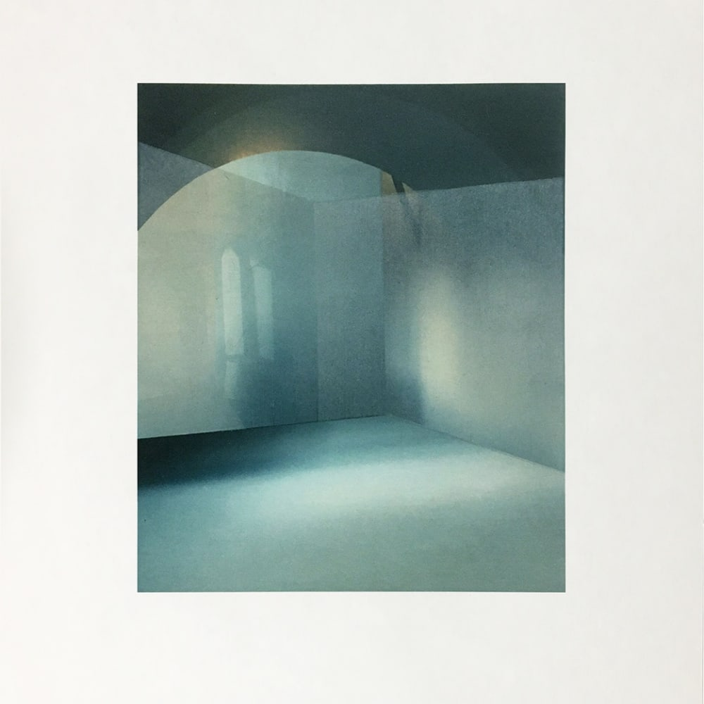 """Prudence Ainslie (b. 1990) arches-across, 2020, archival digital and woodcut print, 33 x 28 cm. Edition 25. """"As a printmaker, I explore the documentation of place with the intention of analysing the act of seeing"""". The judging panel were impressed by the subtle delicacy and sophistication of Prudence's work and the art of illusion."""" Shortlisted artist, Jerwood Printmaking Today Prize, 2020, nominated by Rabley Gallery"""