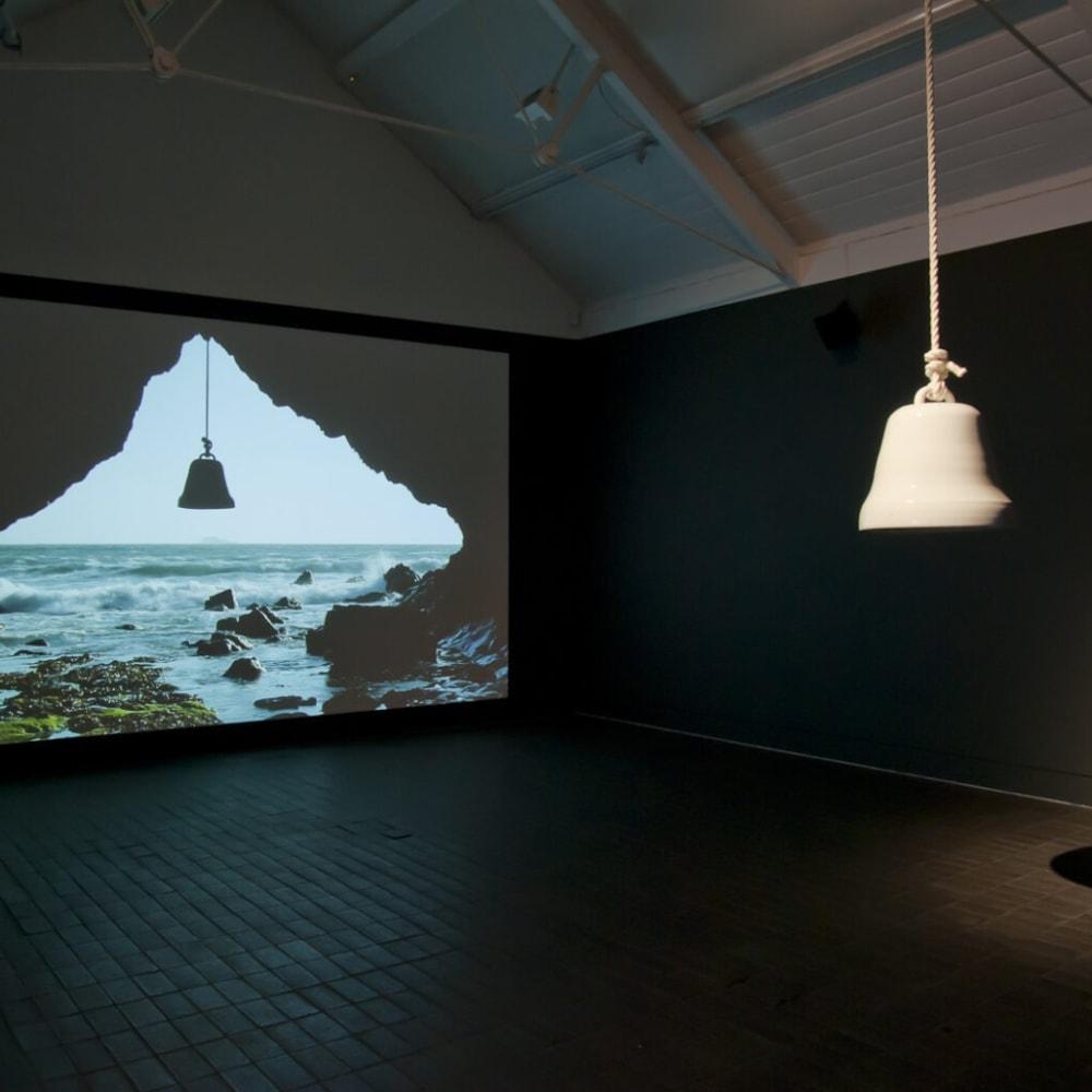 Adam Buick (b. 1978), Veneration bell at Porth Lleuog, Jerwood Makers Open 2013. Mixed installation at Jerwood Space. Photo: Adam Buick
