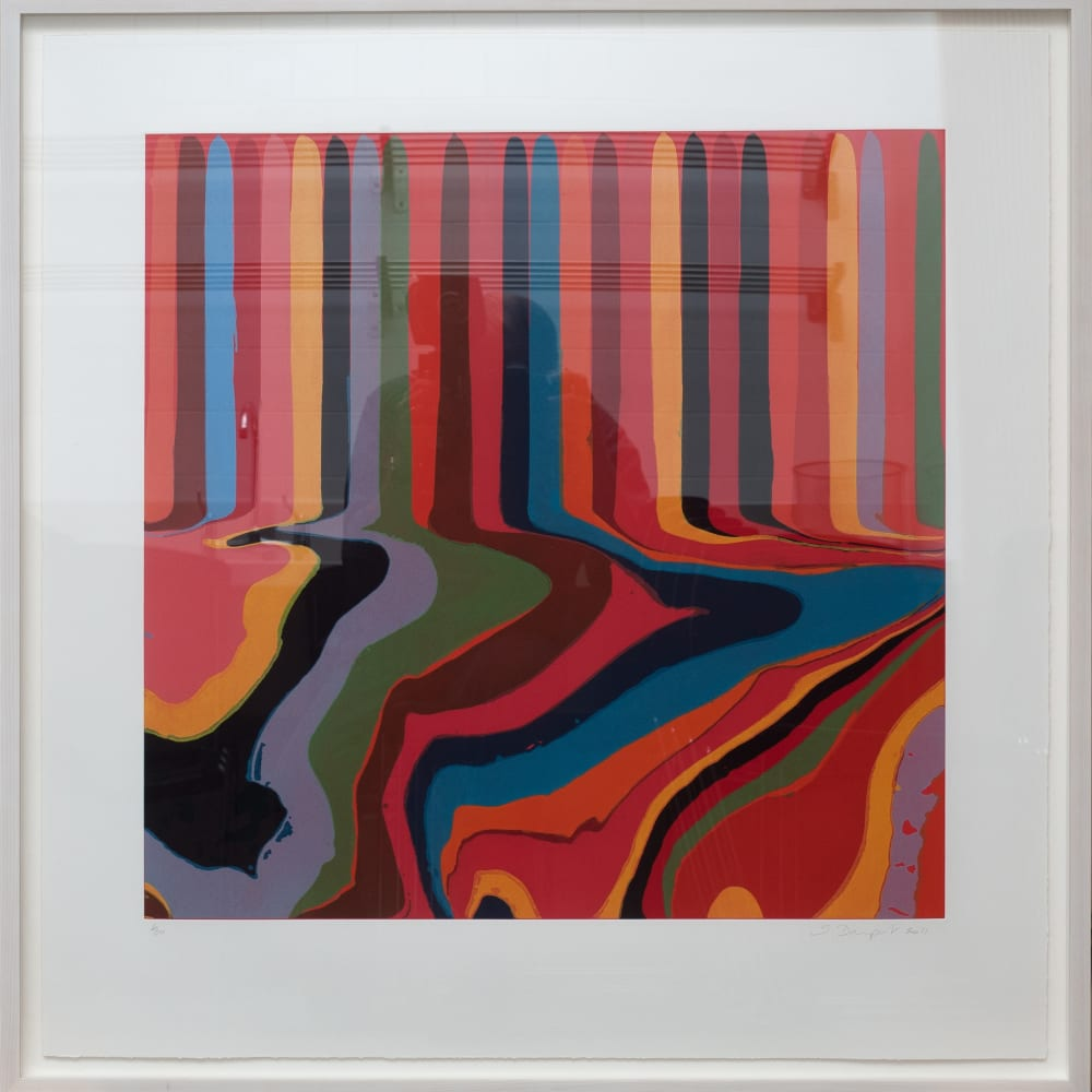 Ian Davenport (b. 1966) Colorplan Series: Bright Red, Etching 2011, a series of four colour etchings with chine-collé on paper. Edition of 30 © Ian Davenport. All rights reserved, DACS 2020