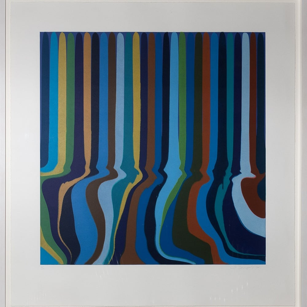 Ian Davenport (b. 1966) Colorplan Series: Royal Blue Etching, 2011, a series of four colour etchings with chine-collé on paper. Edition of 30 © Ian Davenport. All rights reserved, DACS 2020