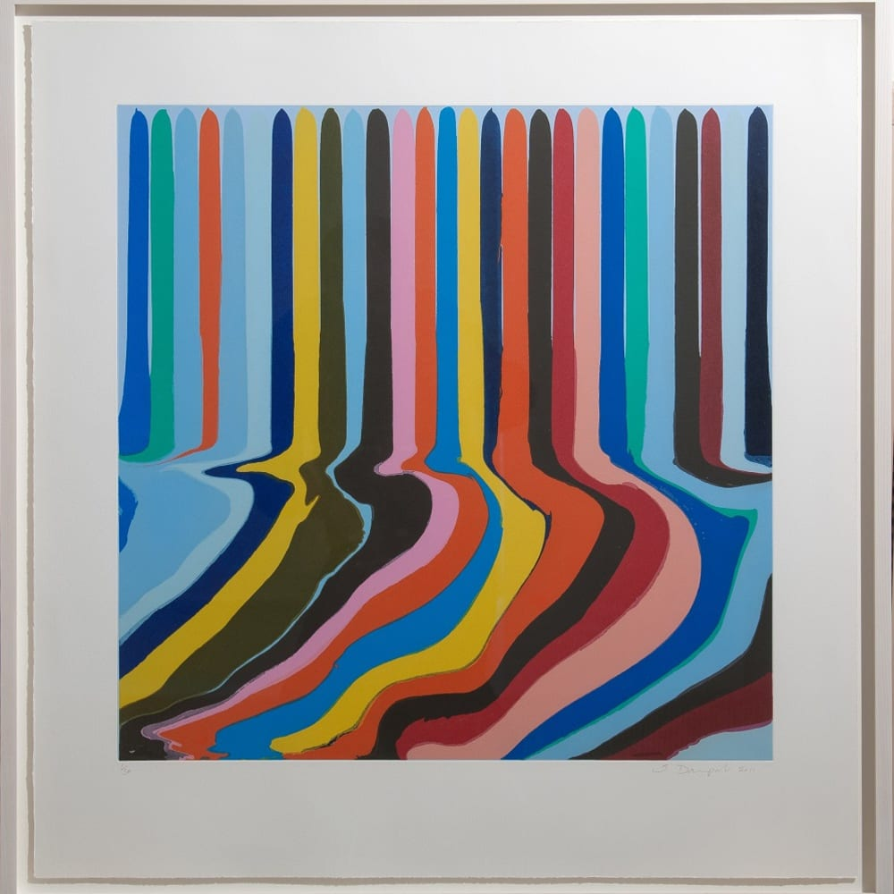 Ian Davenport (b. 1966) Colorplan Series: Azure Blue Etching, 2011, a series of four colour etchings with chine-collé on paper. Edition of 30 © Ian Davenport. All rights reserved, DACS 2020