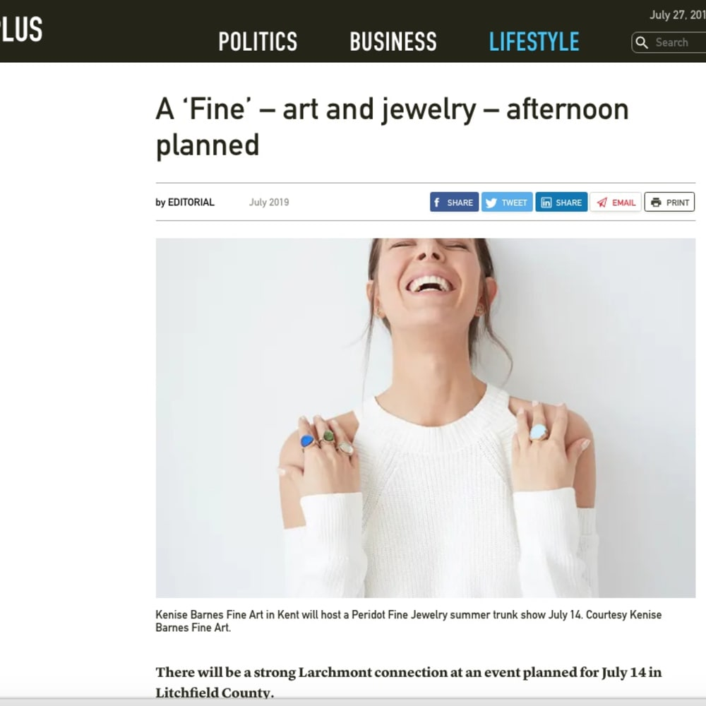A 'Fine' – art and jewelry – afternoon planned