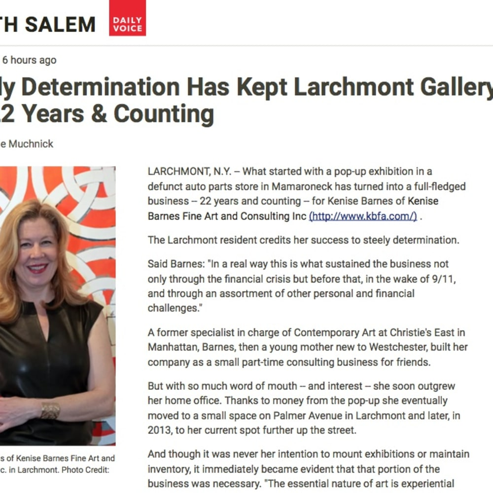 Steely Determination Has Kept Larchmont Gallery In Biz 22 Years & Counting