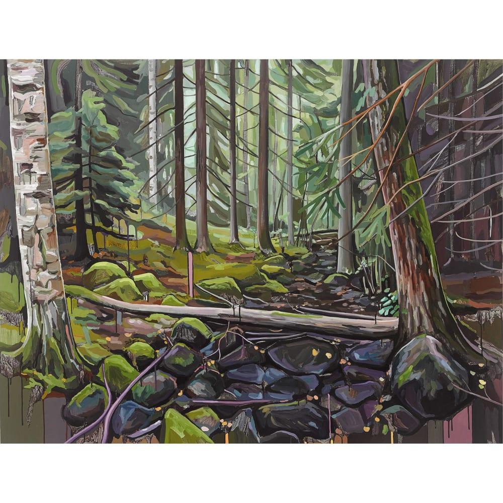 Towards The Lake, 2019, Oil on acrylics on canvas, 130 X 170cm, € 4,500.00