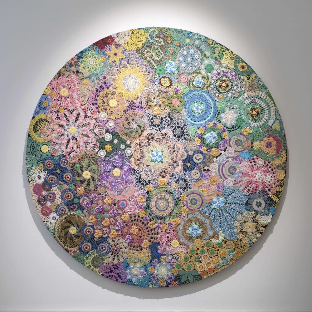 Zak Ové Ancestral Garden, 2019 Crochet doilies Diameter 190 cm Diameter 74 3/4 in