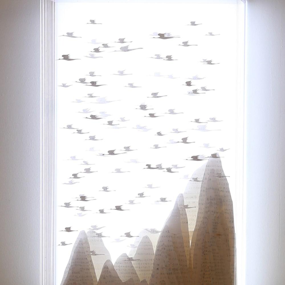 Hu Renyi, Immortal, Collage, Acrylic, LED Light, 2014