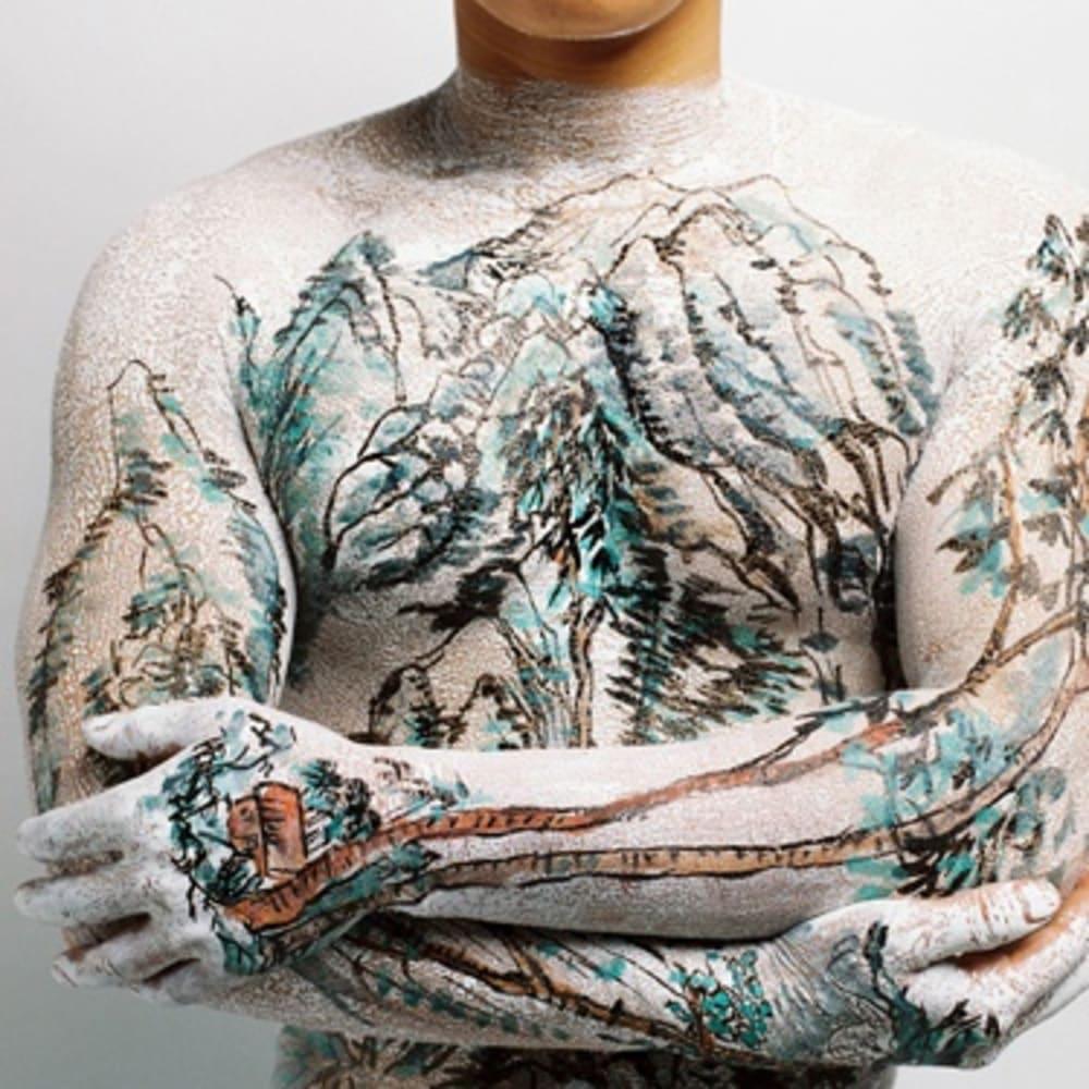 Huang Yan,黄岩 中国山水纹身一套 09 Chinese Shan-shui Tattoo 09 摄影 ,Photography, 95 x 120cm 1999