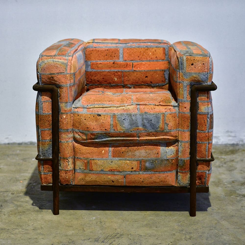 戴耘, 沙发, 红砖, 水泥, 钢筋 Dai Yun, Sofa, Red Brick, Cement, Concrete Iron 70 x 70 x 75 cm 2016