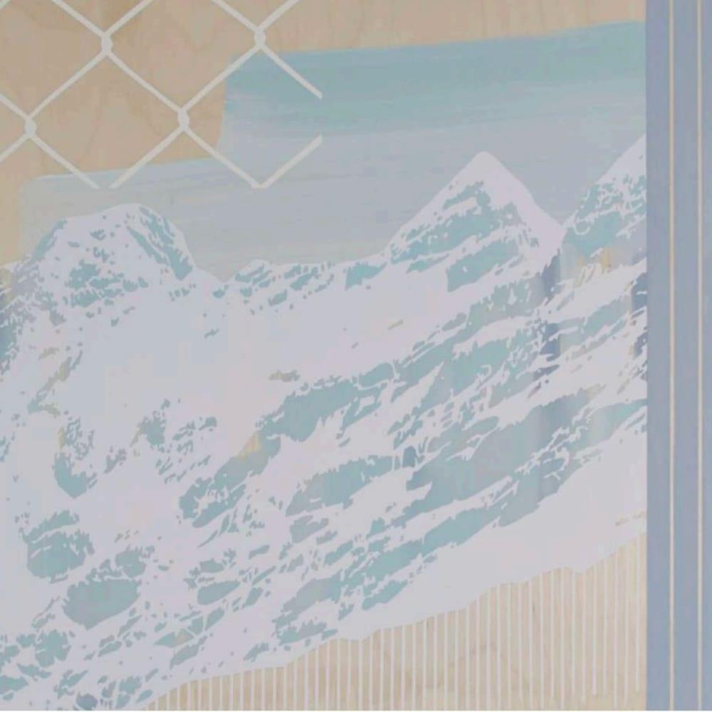 Emily Moore Spring Summit, 2017 Gesso, acrylic, varnish on panel 51 x 61cm