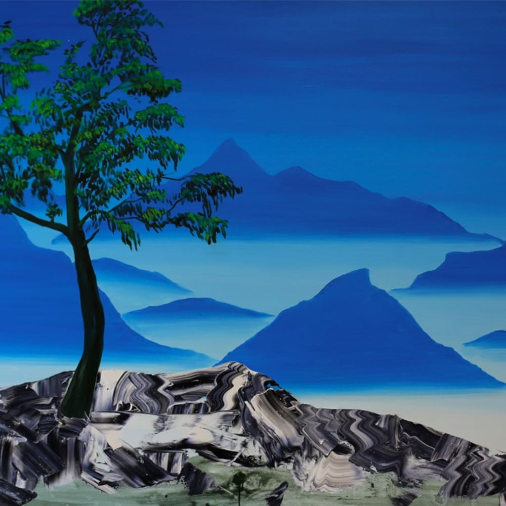 """Flux', oil on canvas, 120 x 150cm"